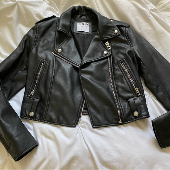 Bershka faux leather jacket